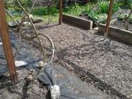 Výroba a montáž odlehčené pergoly, oprava ohradníku pro záhony